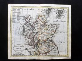 Guthrie 1788 Antique Hand Col Map. Scotland from the best Authorities
